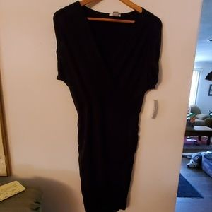 Bar III NWT Black V Neck Dress - M